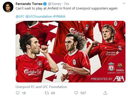 Oficial: Liverpool Legends vs Barcelona Legends pospuesto